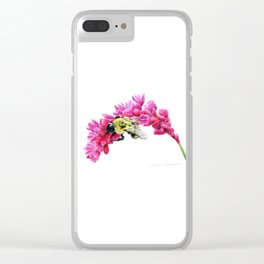 Bumble Me Pink by Teresa Thompson Clear iPhone Case