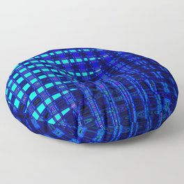Blue in Shadows Floor Pillow