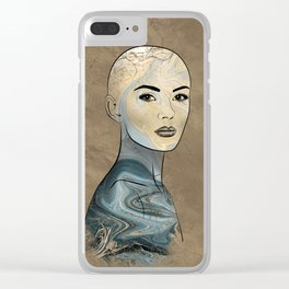 SeaBorn Gold Struck #4 Clear iPhone Case
