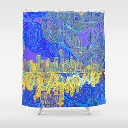seattle city skyline Shower Curtain