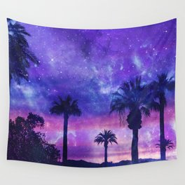 Palm Beach Galaxy Universe Watercolor Wall Tapestry