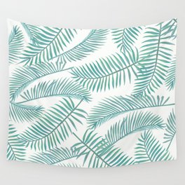 Palm Leaf Pattern Island Paradise Wall Tapestry