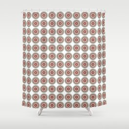 Coca Cola inspired mandala pattern Shower Curtain