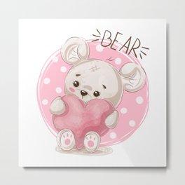 Love teddy Pink Aole lifestyle Metal Print