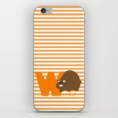 w for wombat iPhone & iPod Skin