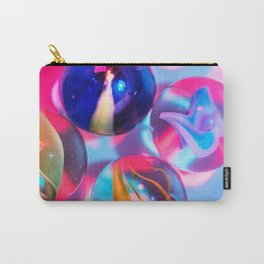 Marble Balls - Pink Background Carry-All Pouch