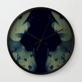 The Night She Swallowed Blackbirds Wall Clock