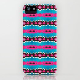 'Zoe's Sister' Tribal-inspired Repeat in Hot Pink and Turquoise iPhone Case