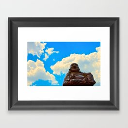 Happy Buddha on a Beautiful Day Framed Art Print