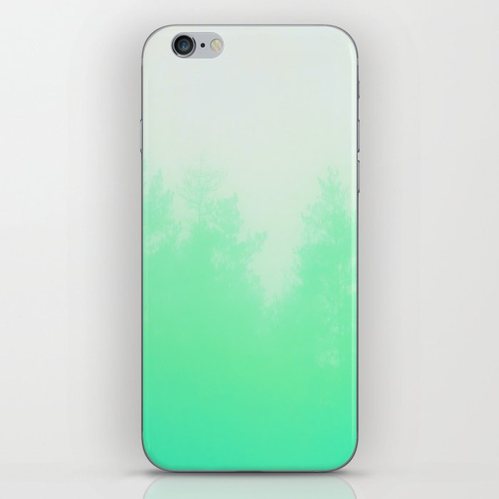 Out of focus - cool green iPhone Skin