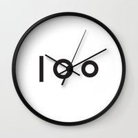 tatoo Wall Clocks featuring TATOO by Fábio M Silva