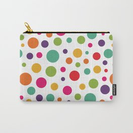 Jolly Colorful Dots Carry-All Pouch
