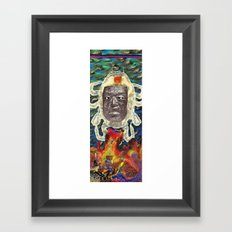 Stone Face  Framed Art Print