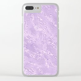 Lilac Silk Moire Pattern Clear iPhone Case