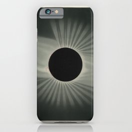 The Trouvelot Astronomical Drawings (1881) - A Total Eclipse of the Sun, 1878 iPhone Case