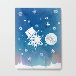 Jolly Good Snow Metal Print