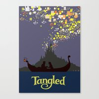 tangled Canvas Prints featuring Tangled by TheWonderlander