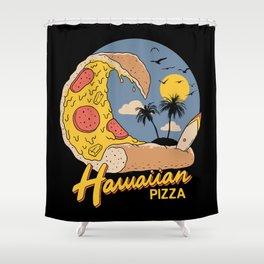 Hawaiian Pizza Shower Curtain
