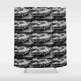 Black And White Chevy Camaro SS Shower Curtain