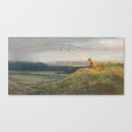 Red Fox Looks Out Over the Valley Canvas Print