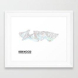 Kirkwood Mountain Resort, CA - Minimalist Trail Art Framed Art Print