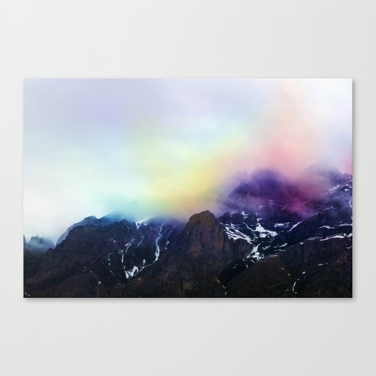 Mountain of Color Fog Canvas Print