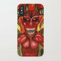 demon iPhone & iPod Cases featuring Demon by Emowolf145