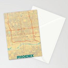 Phoenix Map Retro Stationery Cards