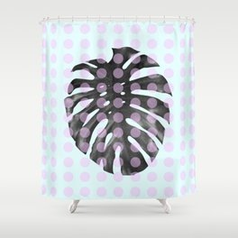 Monstera Dots Shower Curtain