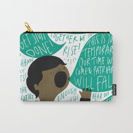 March Like a Girl Carry-All Pouch