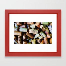 Corks Framed Art Print