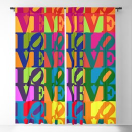 Love Pop Art Blackout Curtain