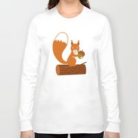 squirrel Long Sleeve T-shirts featuring squirrel by olillia