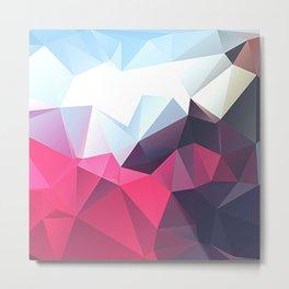 Polygonal Metal Print