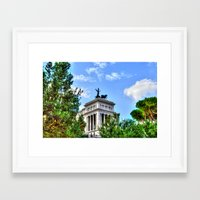 rome Framed Art Prints featuring Rome. by haroulita