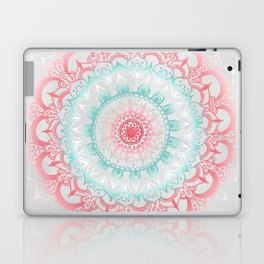 Teal & Coral Glow Medallion Laptop & iPad Skin