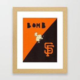 bomb sf Framed Art Print