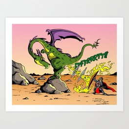 Dragon Farts Art Print