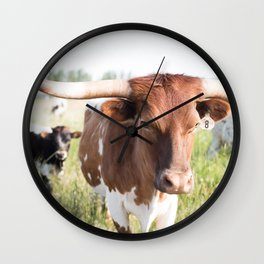 Longhorn 1 Wall Clock
