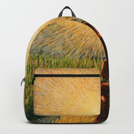 Sicilian sunset, 1921 romantic floral landscape painting by Pippo Rizzo Backpack