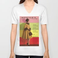 givenchy V-neck T-shirts featuring 1961 Fall/Winter Catalog Cover by Spiegel Catalog