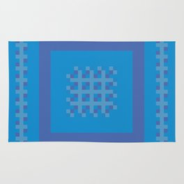 Blue and Purple Boxes Rug