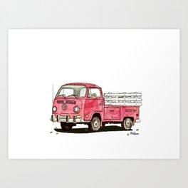 red rider Art Print