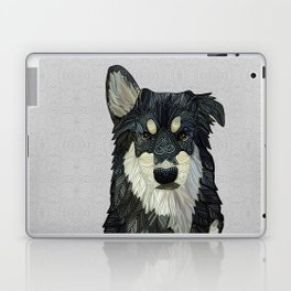 Bjorn - Malamute Samoyed Husky Mix Laptop & iPad Skin