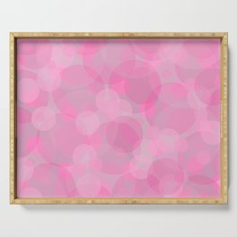 Pink Bubbles 3 Serving Tray