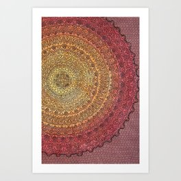 The Center of It All in Color Art Print