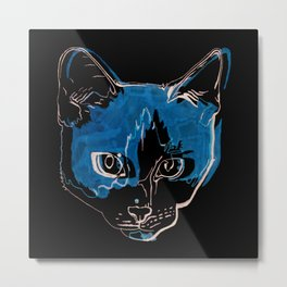 Kitty with a Soul Patch Metal Print