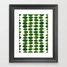 Still a Little Green Framed Art Print