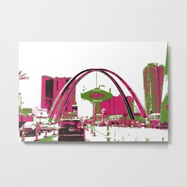 City of Las Vegas arch and sign Metal Print
