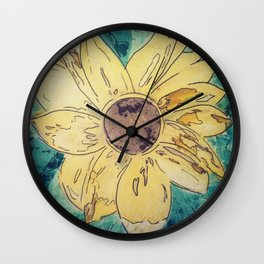 Sunflower madness Wall Clock